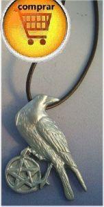 celtic crow silver pendant