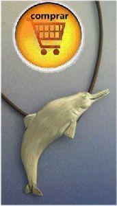 delphin silver pendant