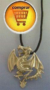 dragon silver pendant amulet