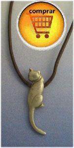 cat silver pendant