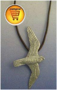 falcon silver pendant