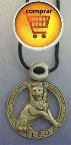leo horoscope silver pendant