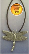 dragonfly silver pendant