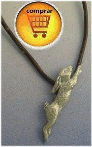 hare pendant silver