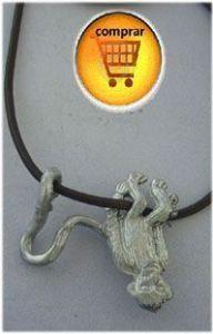 monkey silver pendant