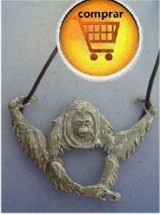 orangutan silver pendant