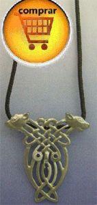 dog celtic knot Cuchulainn silver pendant