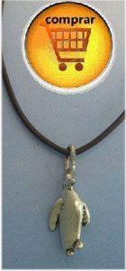 pinguin silver pendant