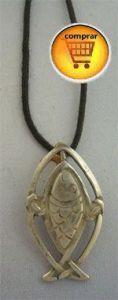 silver pendant salmon