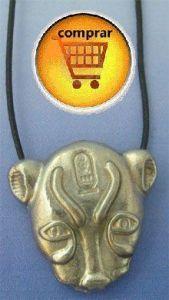 Sekhmet lion silver pendant