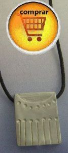 mayan seal dragon sign silver pendant