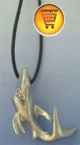 shark silver pendant