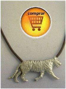 tiger silver pendant