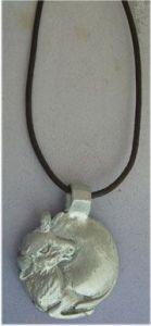 bull silver pendant