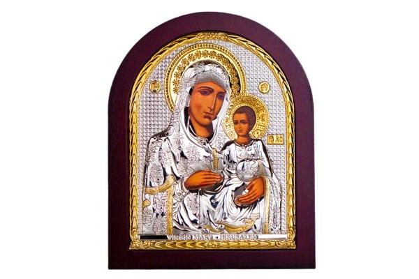 Иерусалимская икона Божьей Матери 13х11 см
