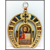Благословение для бизнеса в форме подковы с иконой Иисуса Христа