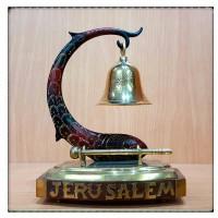 Винтажный колокольчик Иерусалим на подставке