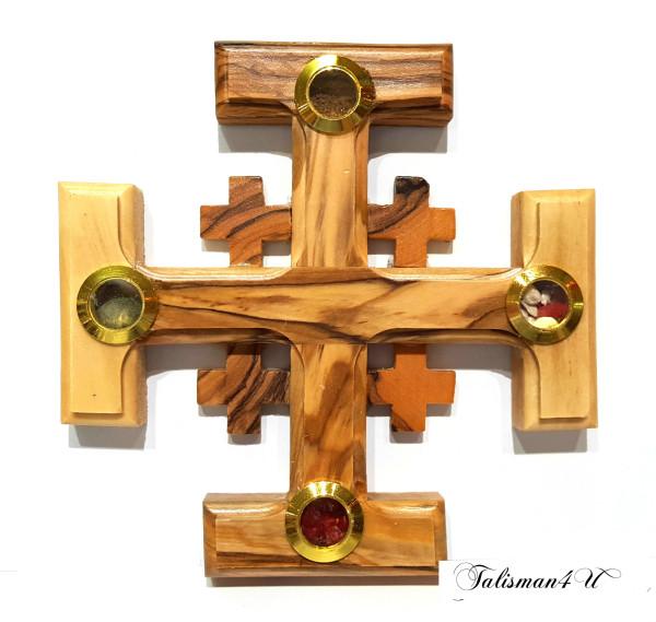 Иерусалимский Крест из оливкового дерева