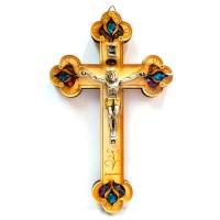 Крест деревянный настенный с распятием 18 см