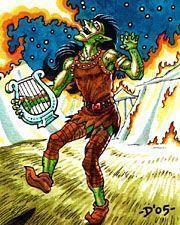 Aillen músico derrotado por Fionn el heroe celta