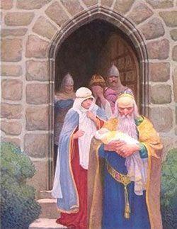 Merlín con el rey Arturo