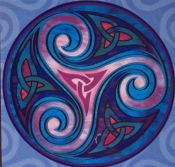 el triskel celta habla del número tres