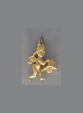 colgante ángel Abundia o abundancia oro de ley