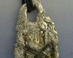 colgante runa Dagaz amuleto vikingo de plata