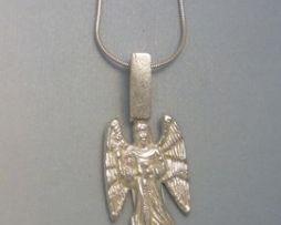 colgante arcángel Gabriel amuleto de plata