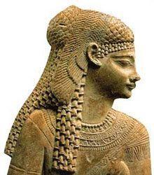 Cleopatra reina de Egipto busto