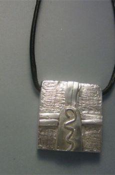 colgante sello maya guerrero kin cib plata