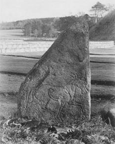 Inverurie Escocia. piedra tallada caballos de Epona