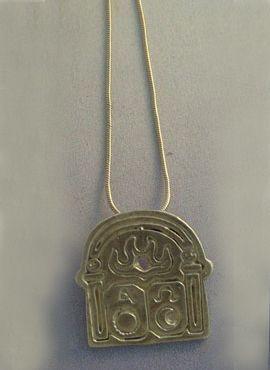 colgante puerta de la vida amuleto cristiano de la eternidad