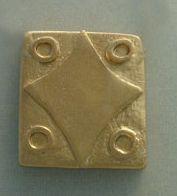 colgante kin sello maya kin lamat estrella oro
