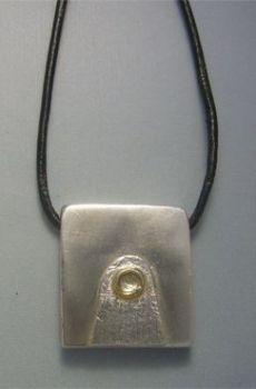 colgante sello maya luna kin muluc colgante de plata