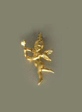 colgante ángel serafín de luz, amuleto de oro adaptable a cualquier cordón o cadena