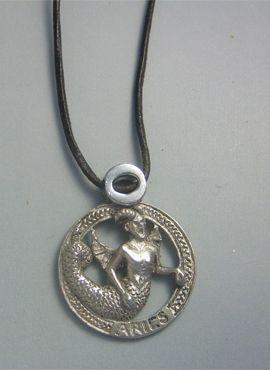 colgante horóscopo aries de plata