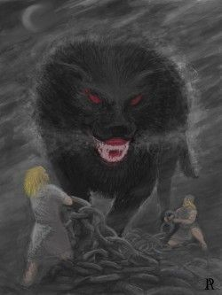 lobo Fenrir encadenado