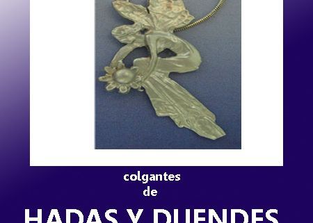 colgantes de plata y oro de hadas, duendes silfos, ondinas, gnomos, y seres mágicos