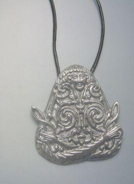 Colgante diosa Macha plata diosa celta Macha