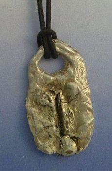 colgante runa vikinga Isa amuleto de la fuerza de voluntad