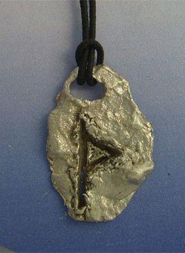 colgante runa vikinga Thurisaz amuleto colgante plata