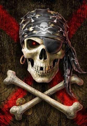 calavera simbolo pirata Jolly Roger
