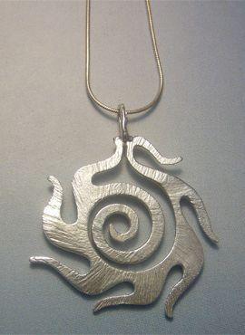 colgante sol celta colgante de plata Beltaine
