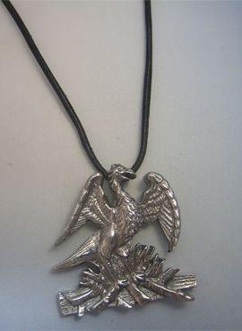 colgante phoenix ave fenix colgante plata