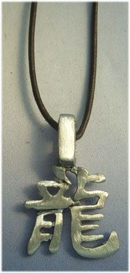 colgante horóscopo chino dragón zodiaco de plata