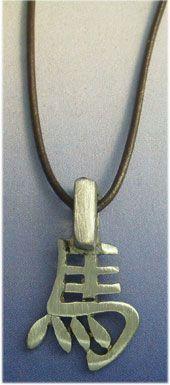 colgante horóscopo chino caballo signo zodiacal de plata