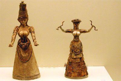 diosas minoicas serpientes
