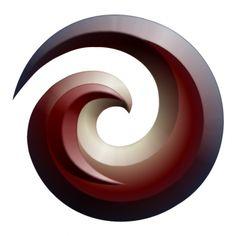 espiral Koru símbolo de los maories
