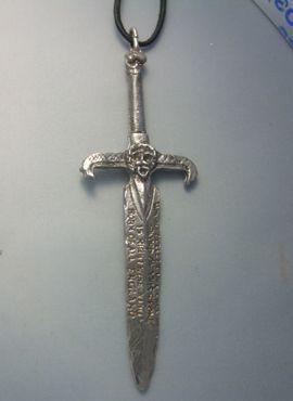 colgante espada excalibur de plata amuleto rey Arturo